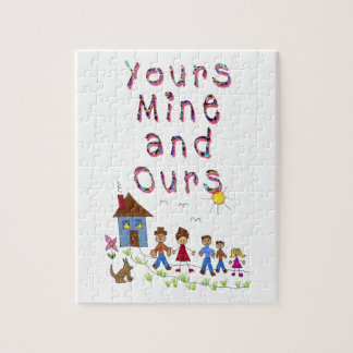 Yours Mine and Ours Blended Family Stepmom Stepdad Jigsaw Puzzle