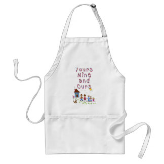 Yours Mine and Ours Blended Family Stepmom Stepdad Standard Apron