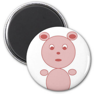YouTalking to ME Pink Bear 6 Cm Round Magnet
