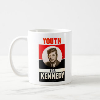 Youth for President John F. Kennedy Basic White Mug