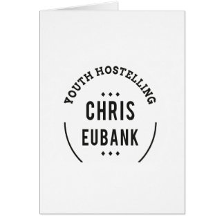 YOUTH HOSTELLING CHRIS EUBANK alan partridge Card