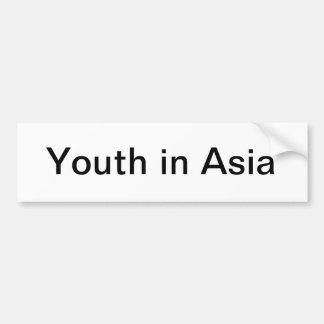 Youth in Asia bumper sticker