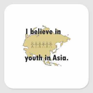 Youth In Asia Square Sticker