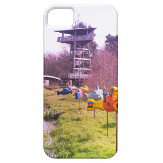 youth park wooden tower and flying wooden fishes iPhone 5 cover