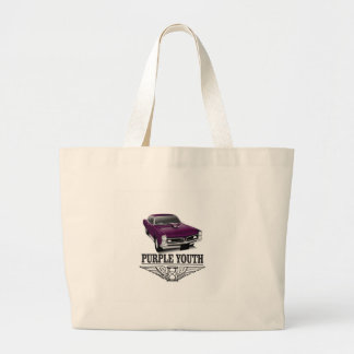 youth purple ride large tote bag