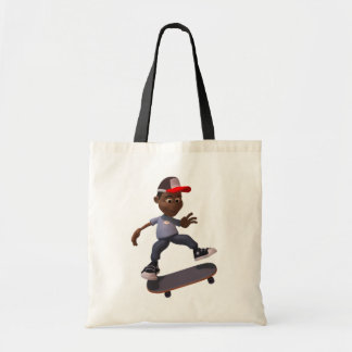 Youth Riding A Skateboard Tote Bag