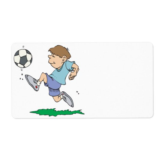Youth Soccer Shipping Label