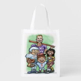 Youth Sports Reusable Grocery Bag