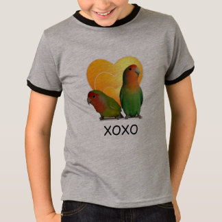 Youth T-Shirt Ringer with Parrot Love