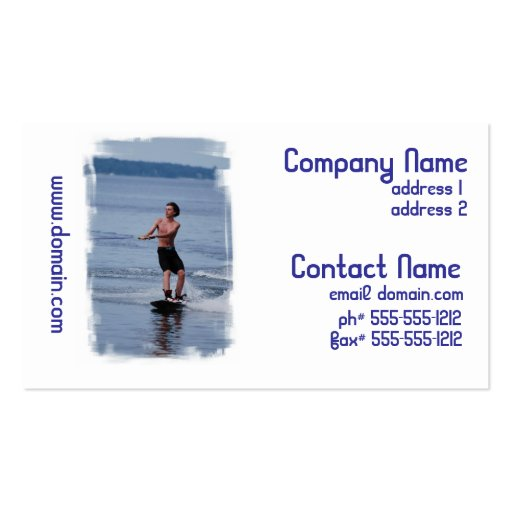 Youth Wakeboarding Business Cards