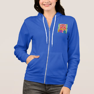 Youthful Conquerors Christmas Zipped Hoodie Blue
