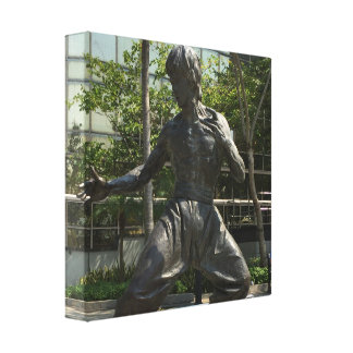 Youthful Karate Statue in Bronze Canvas Print