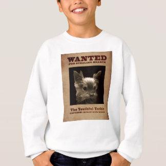 Youthful Yorkie Wanted Child Sweatshirt