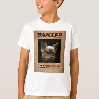 Youthful Yorkie Wanted Child T-shirt