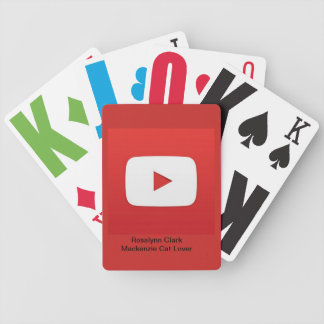 YouTube Playing Cards with Channel Names