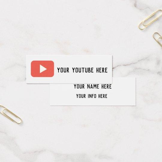 youtube social media modern grunge business card