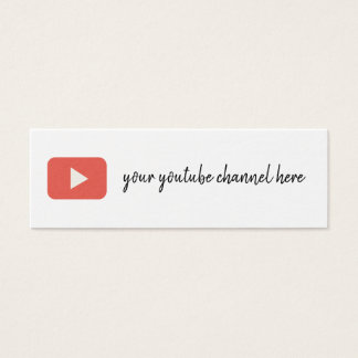 youtube social media trendy business card
