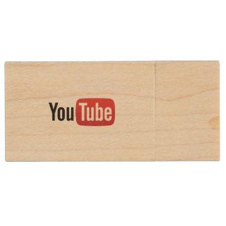 YouTube USB Wood USB 3.0 Flash Drive