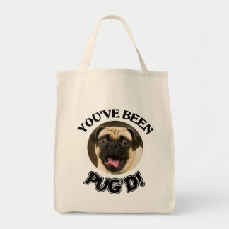 YOU'VE BEEN PUG'D - FUNNY PUG TOTE