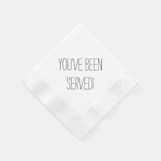You've Been Served Custom Napkins Paper Napkin