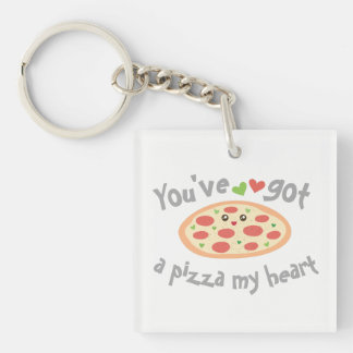 You've Got a Pizza My Heart Cute Funny Love Pun Key Ring