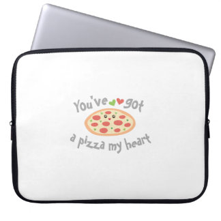 You've Got a Pizza My Heart Cute Funny Love Pun Laptop Sleeve