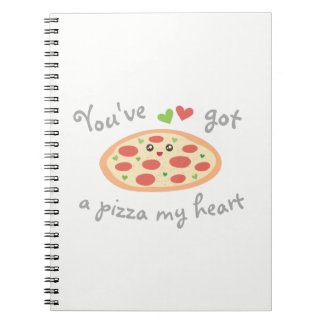 You've Got a Pizza My Heart Cute Funny Love Pun Notebook