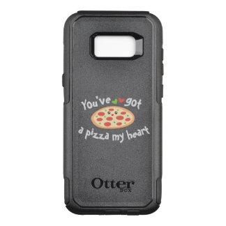 You've Got a Pizza My Heart Cute Funny Love Pun OtterBox Commuter Samsung Galaxy S8+ Case