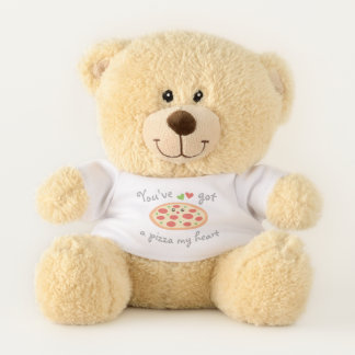 You've Got a Pizza My Heart Funny Cute Food Pun Teddy Bear
