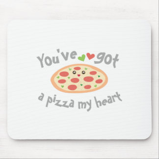You've Got a Pizza My Heart Funny Punny Food Humor Mouse Pad