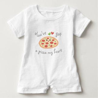 You've Got a Pizza My Heart Funny Punny Unisex Baby Bodysuit