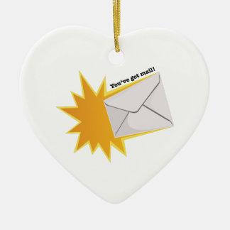 You've Got Mail! Ceramic Heart Ornament