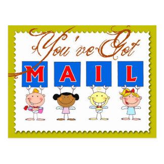 You've got mail! postcard