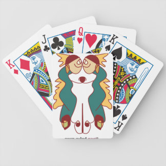 youve got wings naive art noa israel bicycle playing cards