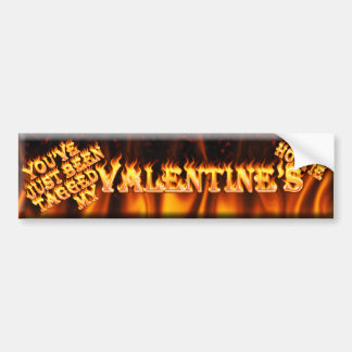 you've just been tagged my valentine's hottie car bumper sticker