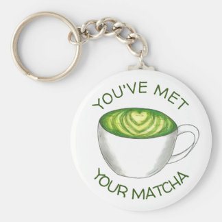 You've Met Your Match Matcha Green Tea Latte Love Key Ring