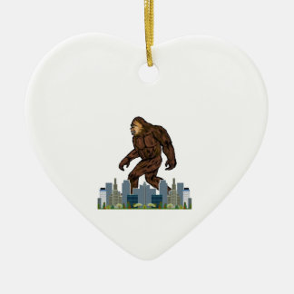 Yowie at Large Ceramic Heart Decoration