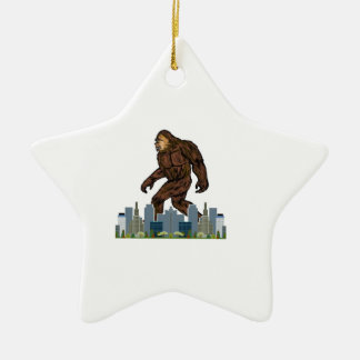 Yowie at Large Ceramic Star Decoration