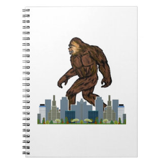 Yowie at Large Spiral Notebook