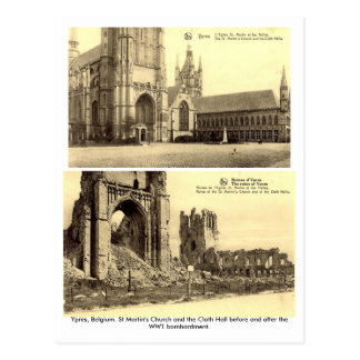 Ypres, Belgium - WW1 Bombardment Postcards