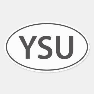 YSU Euro-Decal Oval Sticker