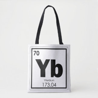 Ytterbium chemical element symbol chemistry formul tote bag