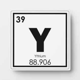 Yttrium chemical element symbol chemistry formula plaque