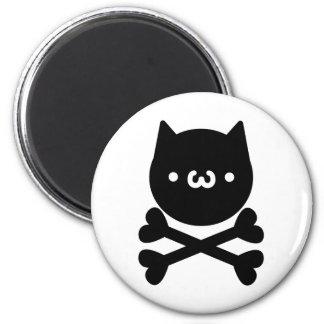 yu? Cat do ku ro 6 Cm Round Magnet