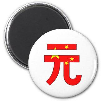 yuan currency symbol money china flag fridge magnet