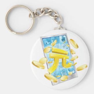 Yuan money phone concept key chain