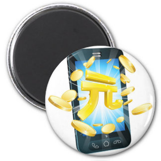 Yuan money phone concept magnets