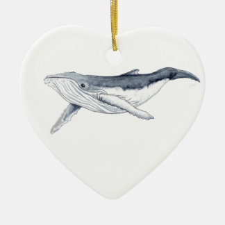 Yubarta drinks whale Christmas decoration heart