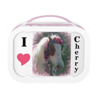 Yubo Lunchbox,Grey I Love Cherry (miniature horse) Lunch Box
