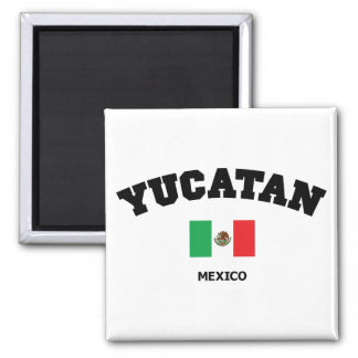 Yucatan Block Square Magnet